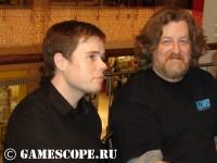 Джо Шели (старший гейм-дизайнер Cataclysm) и Рассел Брауер (директор игры по звуку)