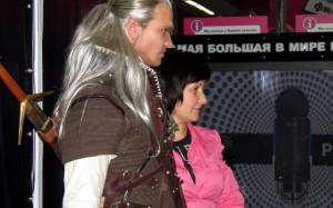 Сергей Остапенко с гостьей премьеры