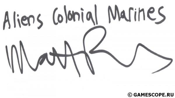 Автограф Мэттью Пауэрса (SEGA)