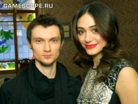 Mikhail Korunchenko (GameScope) and Emmy Rossum (Beautiful Creatures)